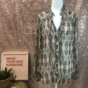 Hollister sheer blouse size small